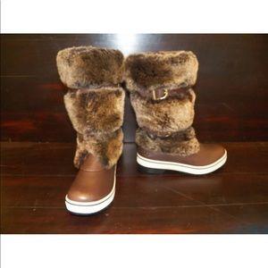 New Womens UGG Lilyan Stout Brown Sheepskin Boots